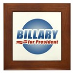 Billary for President Framed Tile
