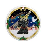 Gold rim - JOY - Scotty Ornament (Round)