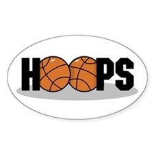Basketball Hoops Oval Decal