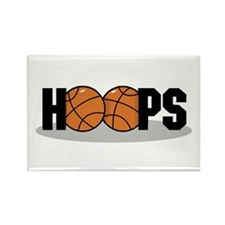 Basketball Hoops Rectangle Magnet (100 pack)