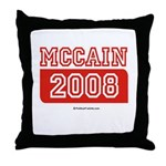 MCCAIN 2008 Throw Pillow