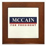 MCCAIN for President Framed Tile