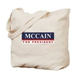 MCCAIN for President Tote Bag