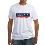 MCCAIN for President Fitted T-Shirt