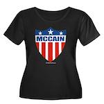 MCCAIN Women's Plus Size Scoop Neck Dark T-Shirt