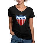 MCCAIN Women's V-Neck Dark T-Shirt