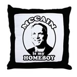 McCain is my homeboy Throw Pillow