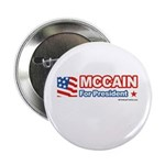 MCCAIN for President Button