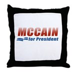 MCCAIN for President Throw Pillow
