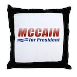 MCCAIN for President Throw Pillow
