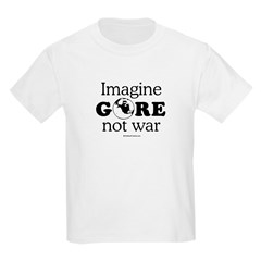 Imagine Gore not war Kids Light T-Shirt
