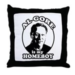 Al Gore is my homeboy Throw Pillow