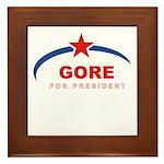 Gore for President Framed Tile