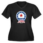 Gore 2008 Women's Plus Size V-Neck Dark T-Shirt