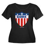 Gore Women's Plus Size Scoop Neck Dark T-Shirt