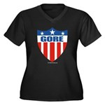Gore Women's Plus Size V-Neck Dark T-Shirt