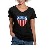 Gore Women's V-Neck Dark T-Shirt
