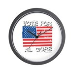 Vote for Al Gore Wall Clock