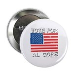 Vote for Al Gore Button
