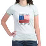 Vote for Al Gore Jr. Ringer T-Shirt