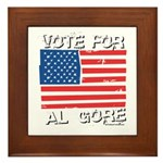 Vote for Al Gore Framed Tile