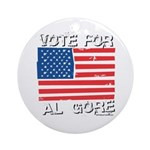 Vote for Al Gore Ornament (Round)