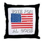 Vote for Al Gore Throw Pillow