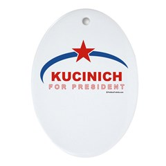 Kucinich for President Oval Ornament