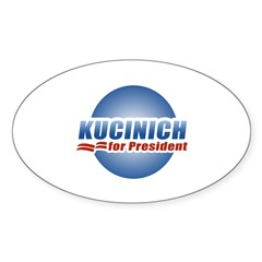 Kucinich for President Oval Sticker