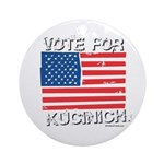 Vote for Kucinich Ornament (Round)