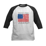 Vote for Kucinich Kids Baseball Jersey