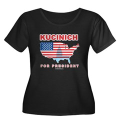 Kucinich for President Women's Plus Size Scoop Nec