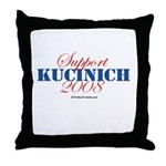 Support Kucinich Throw Pillow