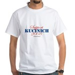 Support Kucinich White T-Shirt