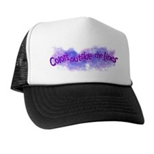 Unique Color outside the lines Trucker Hat