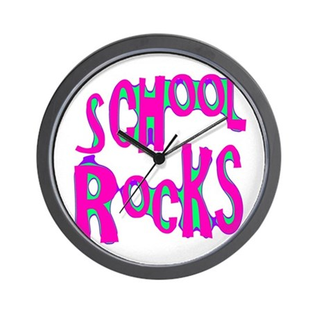 School Rocks - Hot Pink Wall Clock