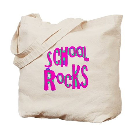 School Rocks - Hot Pink Tote Bag