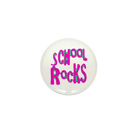 School Rocks - Hot Pink Mini Button (100 pack)