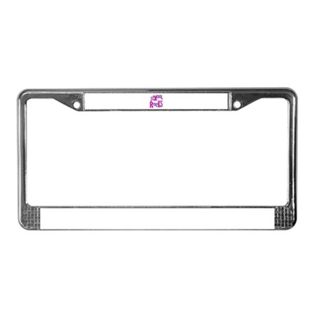 School Rocks - Hot Pink License Plate Frame