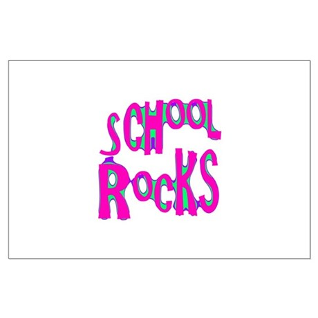 School Rocks - Hot Pink Large Poster