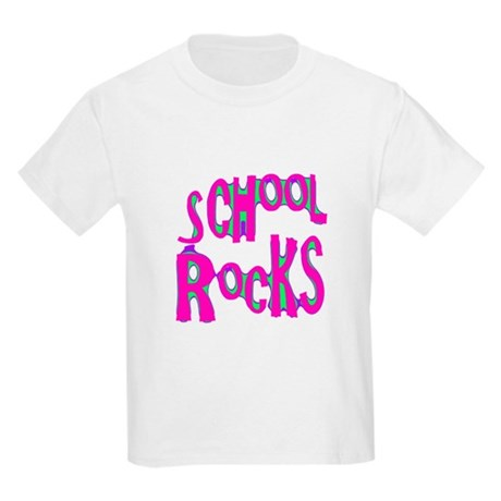 School Rocks - Hot Pink Kids Light T-Shirt