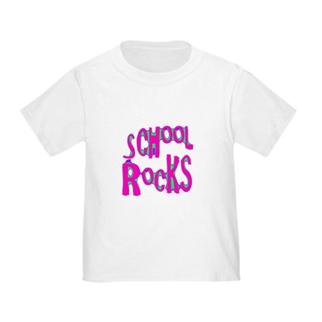 School Rocks - Hot Pink Toddler T-Shirt