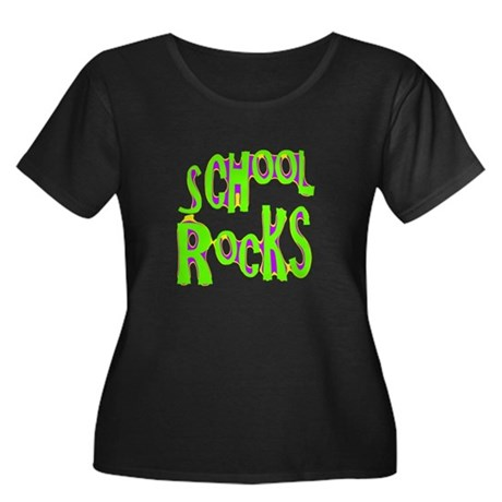 School Rocks - Lime Women's Plus Size Scoop Neck D