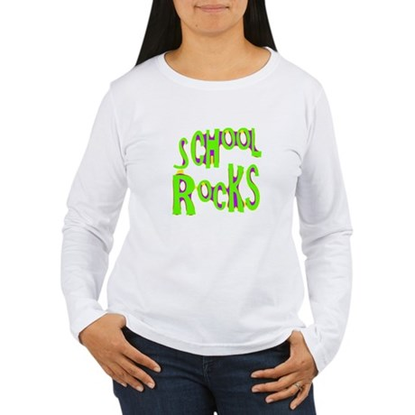 School Rocks - Lime Women's Long Sleeve T-Shirt