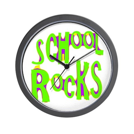 School Rocks - Lime Wall Clock