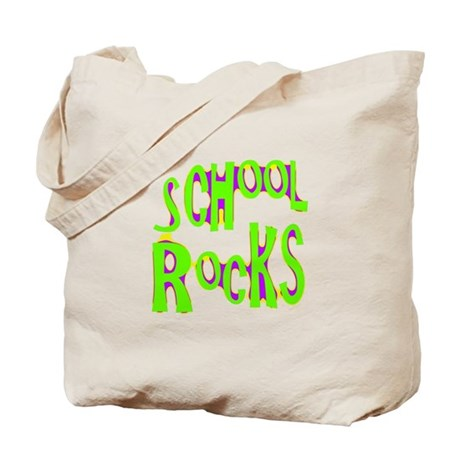 School Rocks - Lime Tote Bag