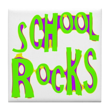 School Rocks - Lime Tile Coaster
