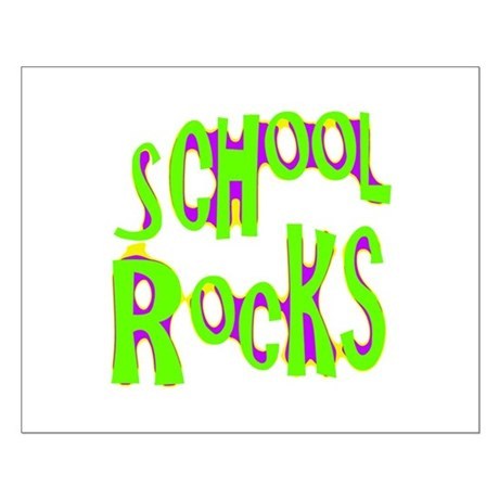 School Rocks - Lime Small Poster