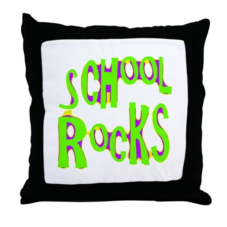 School Rocks - Lime Throw Pillow