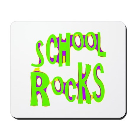 School Rocks - Lime Mousepad